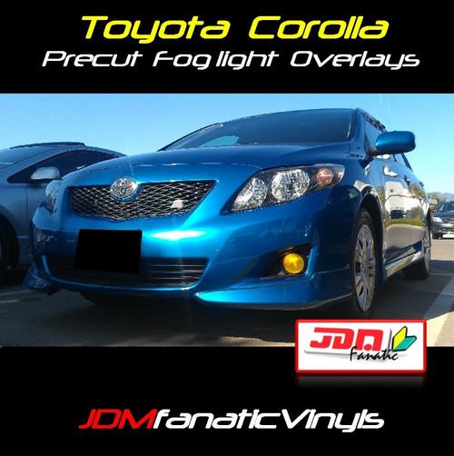 08-10 Toyota Corolla Precut Yellow Fog Light Overlays Vinyl Tint Kit