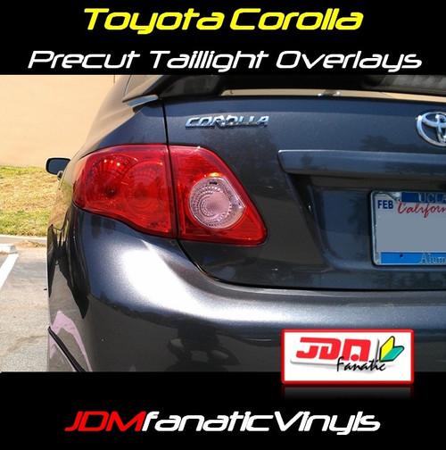 08-10 Toyota Corolla Precut REDOUT Turn Signal Tail Light Overlays Tint