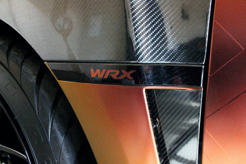 WRX Fender Garnish Blackout Kit + Lettering Inlays (08-14 WRX)