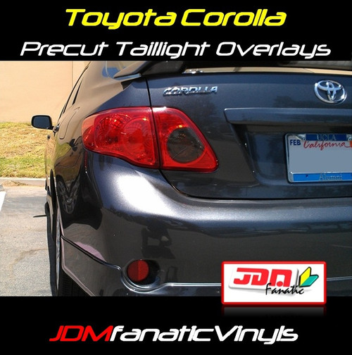 08-10 Toyota Corolla Precut REDOUT Blinker & SMOKED Reverse Tail Light Overlays Tint