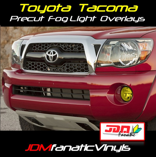 05-11 Toyota Tacoma Precut Yellow Fog Light Overlays Vinyl Tint Kit