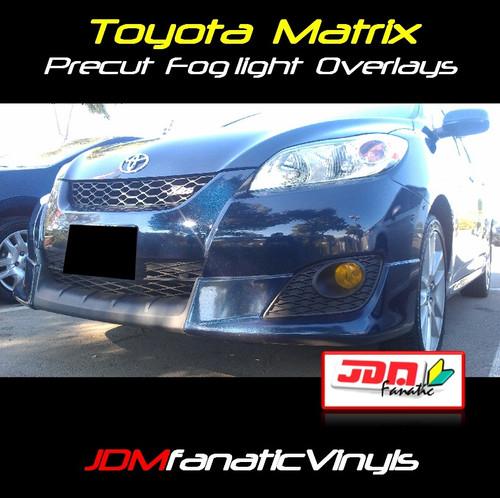 09-11 Toyota Matrix Precut Yellow Fog Light Overlays Vinyl Tint Kit