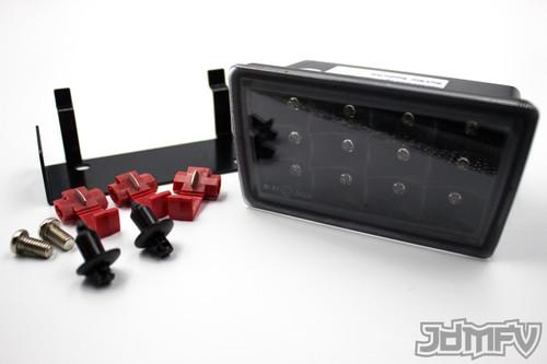 LED F1 STYLE REAR FOG LIGHT JDM 3rd brake light - Clear lens w/ Black Reflector