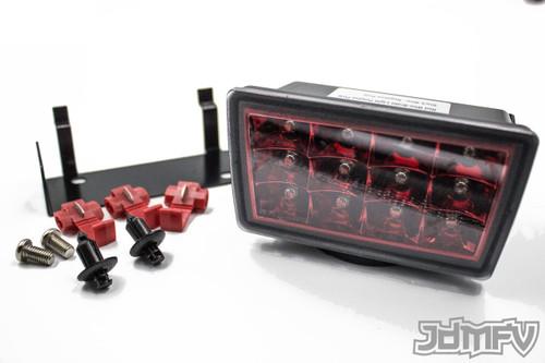 LED F1 STYLE REAR FOG LIGHT JDM 3rd brake light - Clear lens w/ RED Reflector