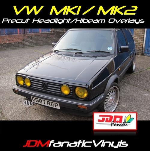 VW Jetta/Golf MK1/MK2 Precut Head Light & High Beam Overlays Tint
