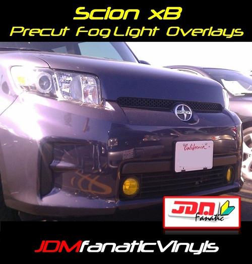08-11 Scion xB Precut Yellow Fog Light Overlays Tint