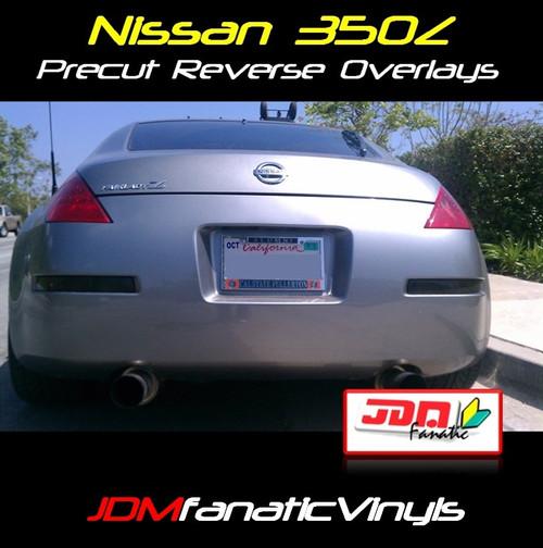 03-08 350Z Precut Smoked Blinker/Reverse Tail Light Overlays Tint