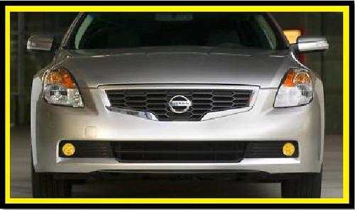07-11 Nissan Alitma Coupe Precut Yellow Fog Light Overlays Tint