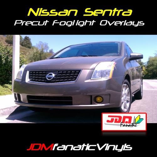 07-11 Nissan Sentra Precut Yellow Fog Light Overlays Tint