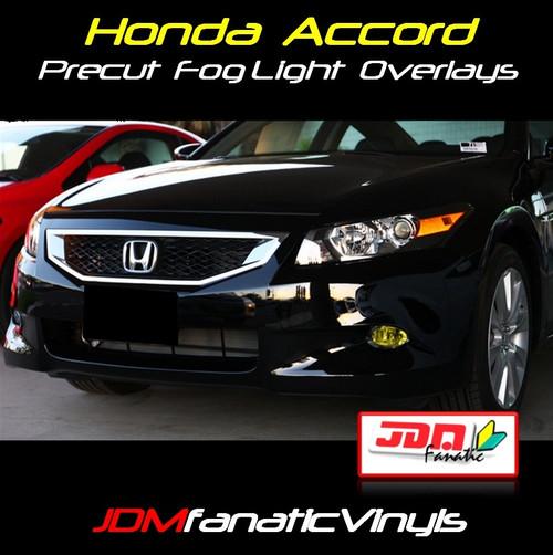 2008-2012 Honda Accord Precut Yellow Fog Light Overlays Tint
