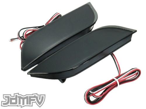26-LED Rear Bumper Reflectors / Brake Lights / Turn Signals / Rear Fog Light - SMOKED