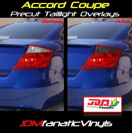08-10 Honda Accord Coupe Precut Smoked RedOut Blinker Tail Light Overlays Tint