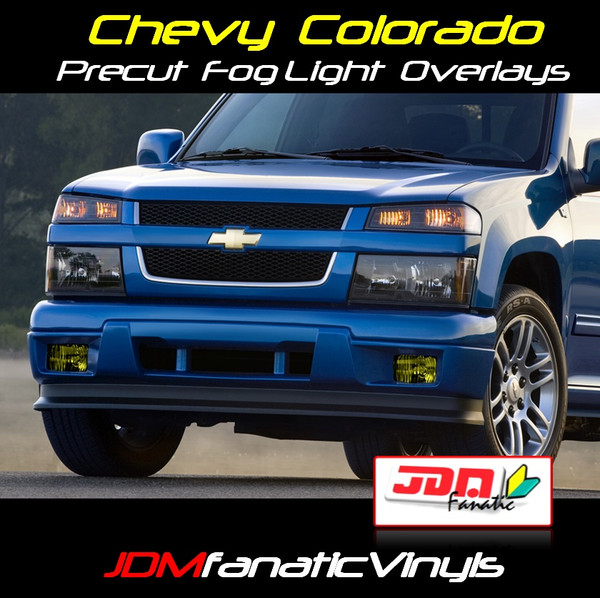 04-11 Chevrolet Colorado Xtreme Precut Yellow Fog Light Overlays Tint