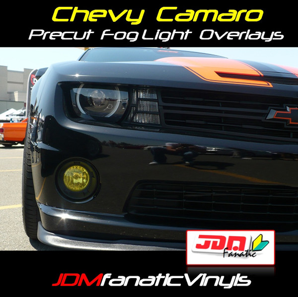 10-13 Chevrolet Camaro RS/SS/LT Precut Yellow Fog Light Overlays Tint