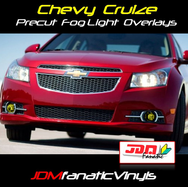 11-13 Chevrolet Cruize Precut Yellow Fog Light Overlays Tint