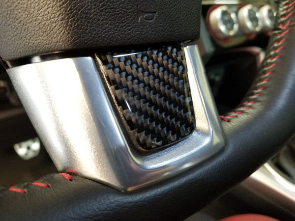 100% Real Carbon Fiber Steering Wheel Trim (2015-2021 WRX/STI)