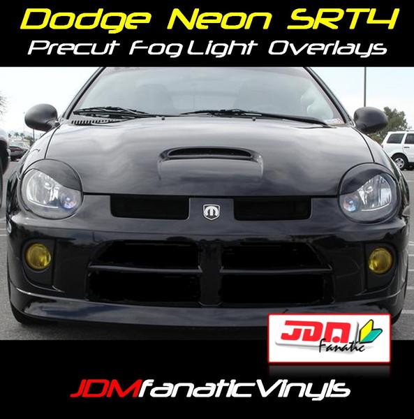 03-05 Dodge Neon SRT4 Precut Yellow Fog Light Overlays Tint