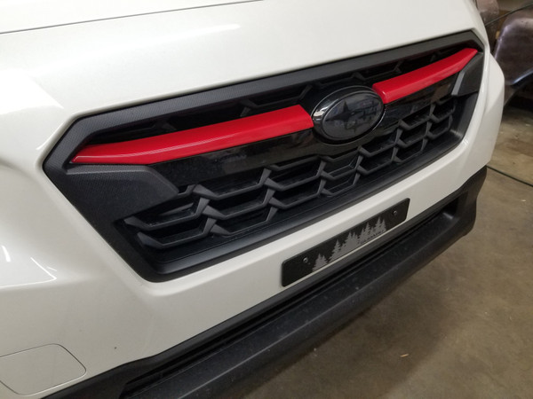 Gloss Red ABS Plastic Grille  Accent Trim Covers Winglets (2018+ Crosstrek)
