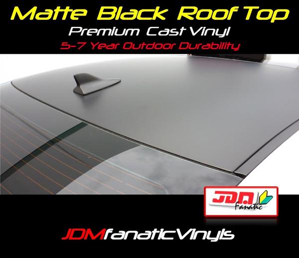 Matte/Flat Black Roof Top Overlay - Universal Kit