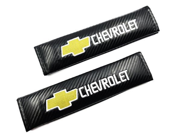 Carbon Fiber Seat Belt Shoulder Pads Cover  - Gold Bow Tie