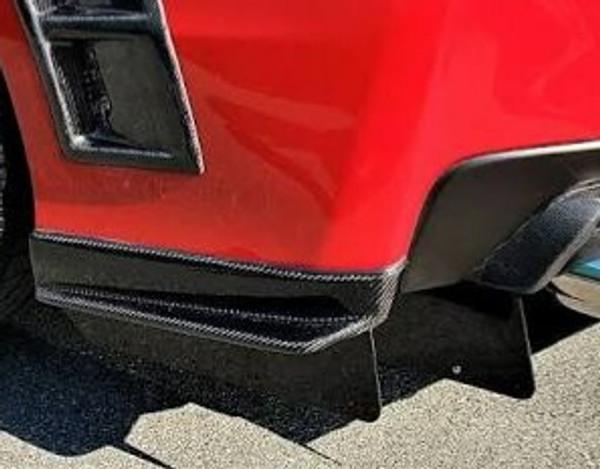 S207 Style Carbon Fiber Spats Rear Apron (15-20 WRX STI)