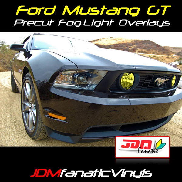 10-12 Ford Mustang GT/SVT Precut Fog Light Overlays Tint