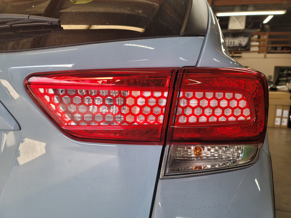 HoneyComb Red Tail Light & Reverse Overlays Tint (2018-2021 Crosstrek XV / Impreza)