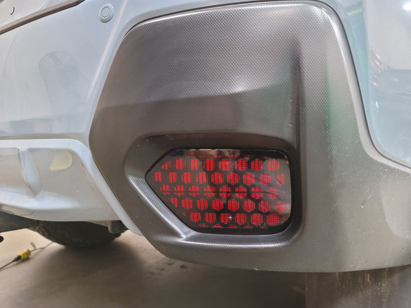HoneyComb BLACKOUT Rear Reflector Overlays Tint (2018-2021 Crosstrek)