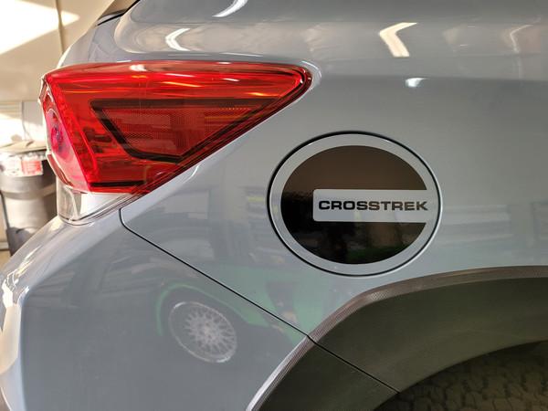 Gas Door Overlay with Lettering (2018-2021 Crosstrek)