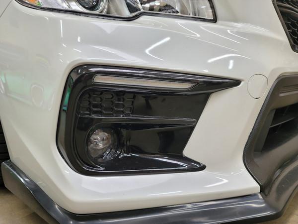 SEQUENTIAL SWITCHBACKS - Gloss Black Fog Light Bezels - JDM S4 Style DRL  (2018-2020 WRX/STI)