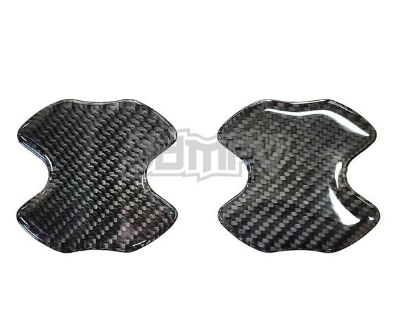 2pcs - Door Handle Bowl Cover Anti Scratch - Real Carbon Fiber