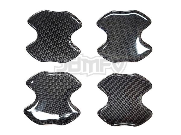 4pcs - Door Handle Bowl Cover Anti Scratch - Real Carbon Fiber