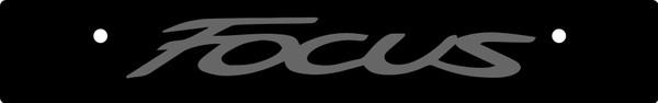 Vanity Plate Delete FOCUS Logo Engraved -  Gloss Black Acrylic