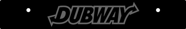 Vanity Plate Delete DUBWAY Logo Engraved -  Gloss Black Acrylic