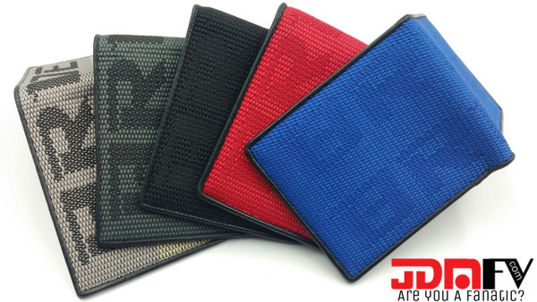 JDM Bride Logo Gradation Racing Wallets - Red, Gray, Gradation, Black, Blue
