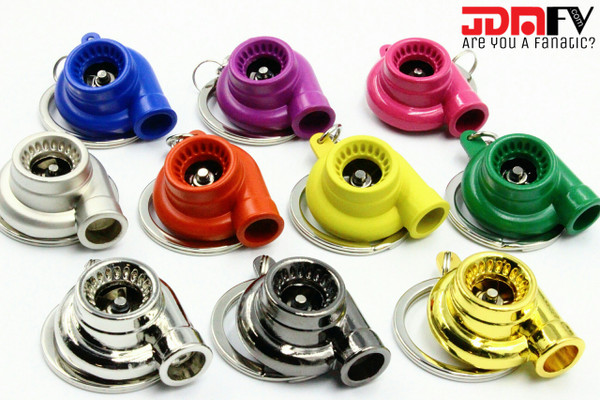 Turbo with Spinning Trubine Keychain - 10 Colors