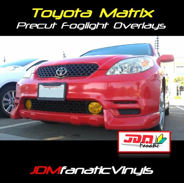 03-08 Toyota Matrix Precut Yellow Fog Light Overlays Vinyl Tint Kit