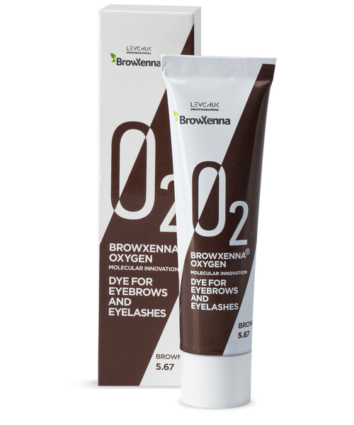 BrowXenna® OXYGEN O₂ Dye for eyebrows and eyelashes Brown #5.67