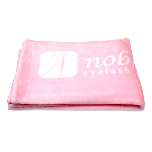 Double-sided Blankets with the Noble Lashes logo