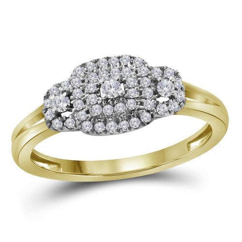 10kt Yellow Gold Womens Round Diamond Solitaire Bridal Wedding Engagement Ring 1/4 Cttw - 112344-5