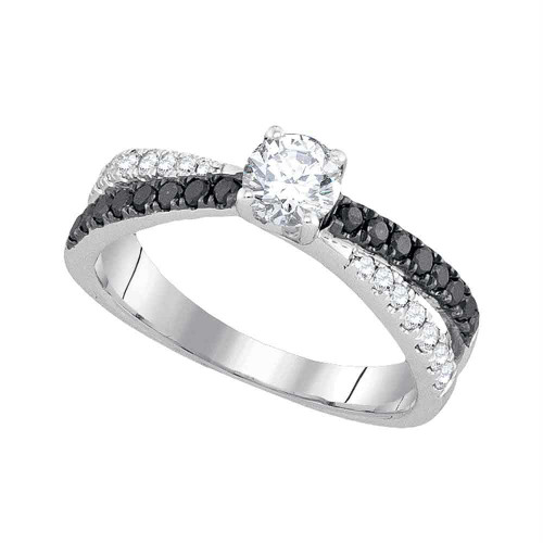 14kt White Gold Womens Round Diamond Solitaire Bridal Wedding Engagement Ring 1.00 Cttw - 93809