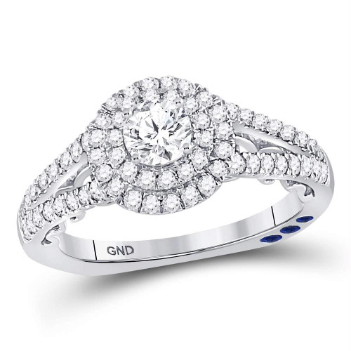 14kt White Gold Womens Round Diamond Solitaire Bridal Wedding Engagement Ring 1.00 Cttw - 120418