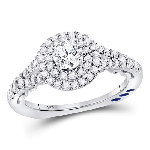 14kt White Gold Womens Round Diamond Solitaire Bridal Wedding Engagement Ring 1.00 Cttw - 120415