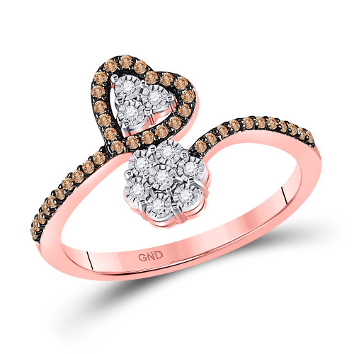 1/5ctw-dia Heart And Flower Ring