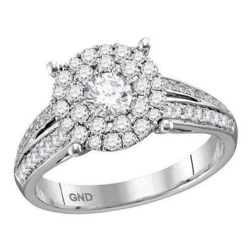 14kt White Gold Womens Round Diamond Solitaire Bridal Wedding Engagement Ring 1.00 Cttw - 113755-10.5