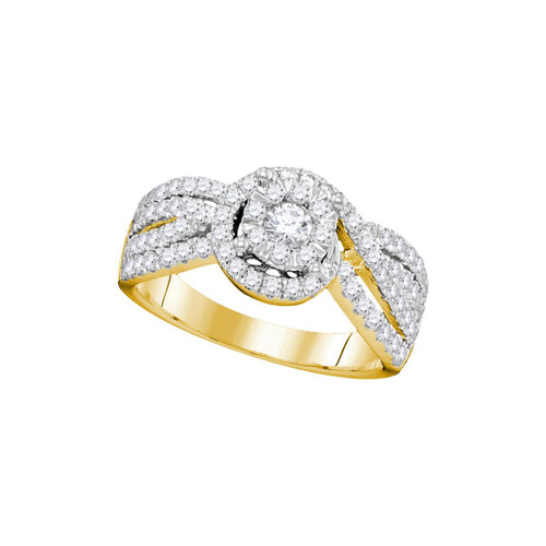 14kt Yellow Gold Womens Round Diamond Solitaire Bridal Wedding Engagement Ring 1.00 Cttw - 104741-6