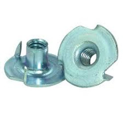 """4-40 x 1/8"""" 3 Prong Tee Nut Zinc Plated (Box of 100)"""
