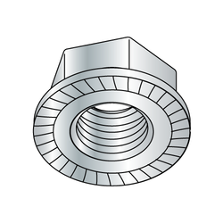 8-32 Whiz-lock Nut Zinc Plated (Box of 100)