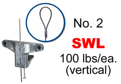 Gripple No. 2 x 15' Duct Trapeze Loop Hanger (Pack of 10)
