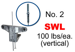"""Gripple No 2 x 20' Stud Anchor (1/4"""")w/Duct Trapeze (Pack of 10)"""